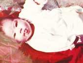 赤ちゃんのとき。5歳まで住んでいた品川の家の屋上で撮ったもの