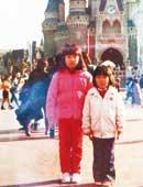 小学校6年生のとき。家族でディズニーランドへ