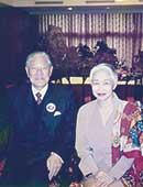 1996年。最初の総統選に立候補した李登輝さんと面会