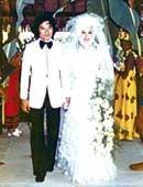 1974年、結婚式inタヒチ