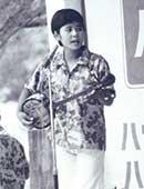 中学生のころ。沖縄でのステージ