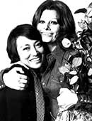 1976年、ソフィア・ローレンさんとローマにて