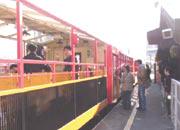 トロッコ列車亀岡駅