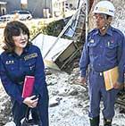 2018年、広島県海田町の被災現場を視察