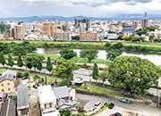 屋上からの眺め(白川遊歩道)