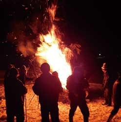 サイノカミを燃やす