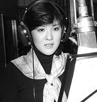 川中美幸デビュー曲のレコーディング中