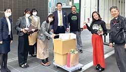 広島市中心部の職場に新鮮な野菜を届ける