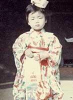 3歳の頃。七五三にて