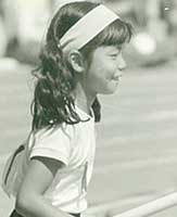 8歳の頃。運動会にて
